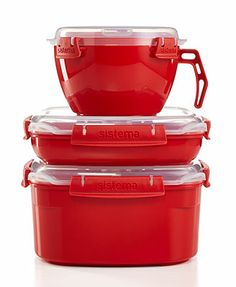 Martha Stewart Collection Food Storage Containers, Set of 3 Microwave