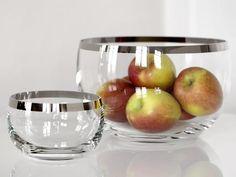 Fink Living 112170 112171 Glasschale Platinum zwei Größen