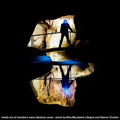 The Jenolan Caves in the Blue Mountains are one of the world's most spectacular cave systems.