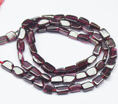 Natural Red Garnet Smooth Rectangle Beads Strand – Jewels Exports