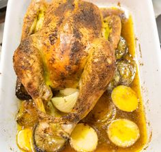 Perfect roast chicken Perfect Roast Chicken, Getting Hungry, Oven Roast, Chicken Wings, Turkey, Meals, Recipes, Food, Peru