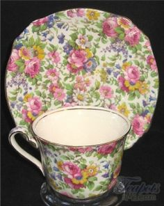 Antique & Vintage Chintz Tea Cups