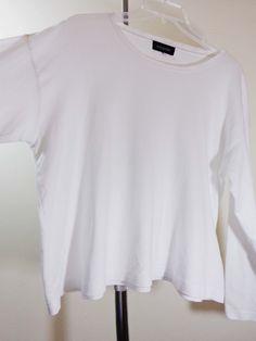 Eskandar blouse lagenlook shirt artsy art to wear white upscale designer sz OS #Eskandar #Blouse