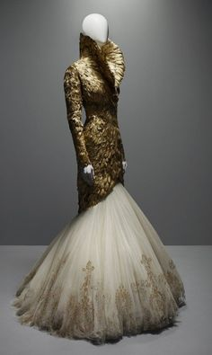 # Alexander McQueen.  Once you get passed the shock value his silhouettes were beautiful.