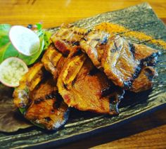 Grilled Beef Short Ribs ($13): Tender and Flavourable! Grilled Beef Short Ribs, Tandoori Chicken, Grilling, Turkey, Japanese, Meat, Ethnic Recipes, Food, Turkey Country