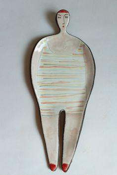 Helena  Mrs. Swimmer  ceramic spoon rest by clayopera on Etsy, $35.00