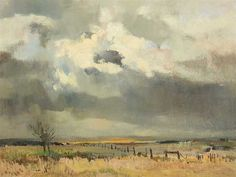 Artwork by Errol Stephen Boyley, Stormy Landscape, Made of Oil Watercolor Landscape, Landscape Art, Landscape Paintings, Landscapes, South African Art, Impressionist Paintings, Character Art, Art Drawings, Art Photography