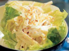 Waldorfin salaattia New Yorkista Lettuce, Salad, Vegetables, Koti, Recipes, Dips, Sauces, Rezepte, Veggie Food