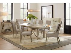 Hooker Furniture Dining Room Elixir 80in Rectangular Dining Table w/1-20in Leaf 5990-75200-LTWD