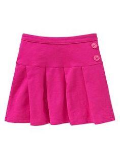 Uniform neon pleated skirt
