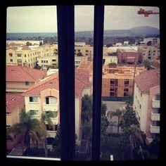 "@sassykassie_14's photo: ""9th floor view!! #dorm #sdsu #universitytowers #overcast"""