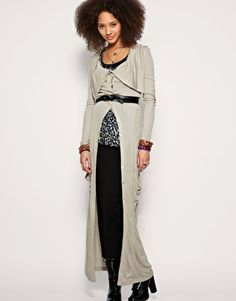 Red & Brown Cozy Tribal Print Maxi Cardigan   My style/what I like ...