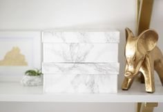DIY Marble Contact Paper Boxes | Why Don't You Make Me
