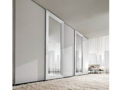 Sectional mirrored wardrobe with sliding doors MIRROR by Presotto Industrie Mobili | design Pierangelo Sciuto
