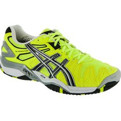 ASICS GEL-Resolution 5: ASICS Mens Tennis Shoes Yellow/Black/Silver