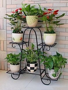 plant stands lower Racks Iron Plant Stand Flower Pot Garden Storage Shelf for Balcony Outdoor for sa Indoor Flower Pots, Iron Plant, Decoration Plante, Pot Jardin, Diy Plant Stand, Outdoor Plant Stands, Metal Plant Stand, Flower Stands, Metal Flowers