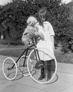 Girl With Dog On Tricycle 1917 Vintage 8x10 Reprint Of Old Photo 4 Girl With Dog On Tricycle 1917 Vintage 8x10 Reprint Of Old Photo 4 This is an excellent reproduction of an old photo. Reproduced photo is in mint condition. This photo will be shipped protected in a padded mailer. Please note the fine print in the foreground of all the photos will not be in the printed version you purchase. All of our photos are developed in photo labs, using the finest photography stock available such as…