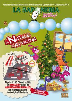 La Saponeria | Copertina volantino promozionale n° 19  #natale #xmas #alberodinatale #regalo #pubblicità #advertising
