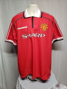 44ed65d9d VTG 90s Umbro Manchester United Sharp Mens Red XL Football Soccer Jersey   Umbro  ManchesterUnited