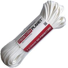 Paracord Planet MilSpec Commercial Grade 550lb Type III Nylon Paracord White *** Check out the image by visiting the link.Note:It is affiliate link to Amazon.