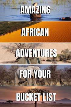 30 African Adventures for your Africa Bucket List - for the adventurous souls the explorers and anyone that loves the outdoors. See. Packing Tips For Travel, Travel List, Travel Guide, Africa Destinations, Travel Destinations, Cultural Experience, African Safari, Africa Travel, Trip Planning