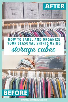 This tutorial shares how to label storage cubes using screen printing and your vinyl cutter (Cricut or Silhouette). Organize your tees by season for a clean closet.