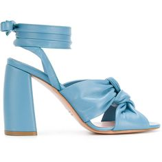 Blue leather lace-up sandals from Anna F. Blue Sandals Heels, Lace Up Sandals, Lace Up Heels, Blue Shoes, Heeled Sandals, Leather Sandals, Top Shoes, Me Too Shoes, Shoe Sites