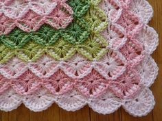 Free Bavarian Crochet Blanket Pattern -- I love this stictch pattern and the color palette. I can see giving this as a baby gift in the near future. See my pin for a tutorial of this stitch from the Crochet Geek. Bag Crochet, Crochet Motifs, Manta Crochet, Love Crochet, Crochet Blanket Patterns, Baby Blanket Crochet, Crochet Crafts, Yarn Crafts, Crochet Stitches