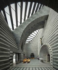 Mario Botta - Church of St. John the baptist, Mogno 1992