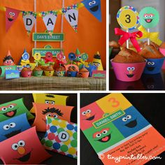 Sesame Street Birthday Party Printables - Full Set | Flickr - Photo Sharing!