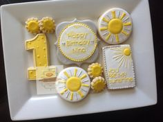 2 dozen You are my sunshine cookies by NatSweetsCookies on Etsy