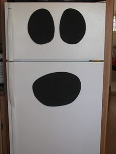 Ghost fridge - Even *I* could do this LOL by deana
