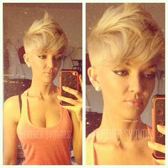 My blonde pixie hair cut