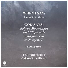 """God says: """"Rely on my strength and I'll provide what you need to do my will."""" -  Renee Swope    click here to read the rest of today's P31 radio show ---> http://proverbs31.org/blog/planning-ahead/"""