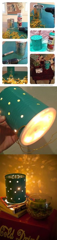Turn a Recycled Can into a Lamp
