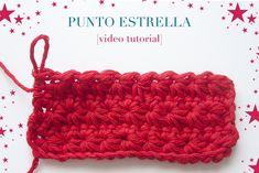 Video tutorial de cómo hacer el punto estrella en ganchillo, paso a paso. Tutorial on how to crochet the star stitch, step-by-step