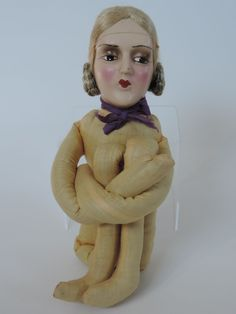 1920's Boudoir Doll with Composition Head and Floss Wig | eBay