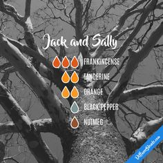 Jack and Sally — Essential Oil Diffuser Blend essential oil diffuser blends Fall Essential Oils, Essential Oil Diffuser Blends, Essential Oil Uses, Young Living Essential Oils, Essential Oil Combinations, Perfume, Belleza Natural, Osho, Humor