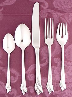 Each piece of this flatware set features quality 18/8 stainless steel construction and a & Cambridge Silversmiths Kashmira 20-pc. Antiqued Flatware Set ...