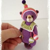 """You have to see Mini Thread Crochet Bear """"Shortcake"""" by TheTinyToyBox!"""