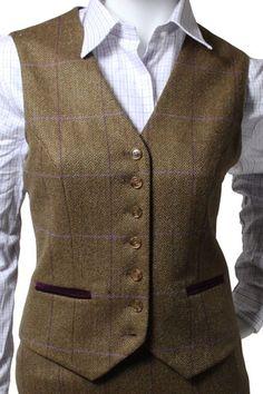 Heather tweed waistcoat