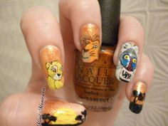 Ahhh here are my Lion King challenge nails...hope you guys like http://mimimanicures.blogspot.co.uk/2013/04/disney-lion-king-nail-art.html