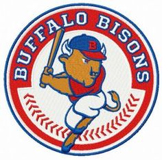 Buffalo Bisons logo machine embroidery design. Machine embroidery design. www.embroideres.com