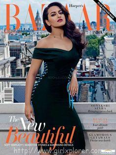 Sonakshi Sinha on Cover of Harper's Bazaar India Magazine November 2014