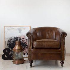 Butaca de piel estilo Chester | Antic&Chic