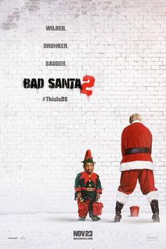 Fueled by cheap whiskey, greed and hatred, Willie Soke (Billy Bob Thornton) teams up with his angry little sidekick, Marcus, to knock off a Chicago charity on Christmas Eve. Along for the ride is chubby and cheery Thurman Merman, a 250-pound ray of sunshine who brings out Willie's sliver of humanity. #badsanta #christmas #thisisbs #movies #comingsoon