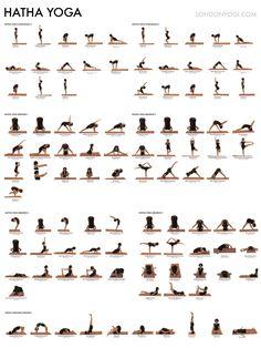 Hatha yoga pose chart: