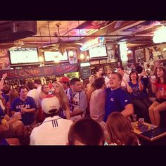 My POV last night. We had a table at the Wheel last night for the #kubball game. It. Was. Amazing.