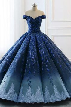Navy Lace Applique Off Shoulder Ball Gown Princess Prom Dresses Navy Lace Applique Off Shoulder Ballkleid Prinzessin Ballkleider Das Ballkleid Ombre Prom Dresses, Burgundy Homecoming Dresses, Princess Prom Dresses, Cute Prom Dresses, Pretty Dresses, Elegant Dresses, Navy Blue Quinceanera Dresses, Formal Dresses, Dress Prom