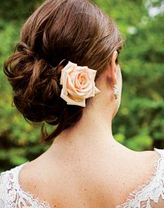 Your Wedding Hairstyle    Don't underestimate your wedding day look. Style photos like one of your hair perfectly pinned back (before you've danced the night away) are must-haves.